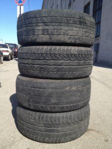 Сдать старые шины от личного автомобиля