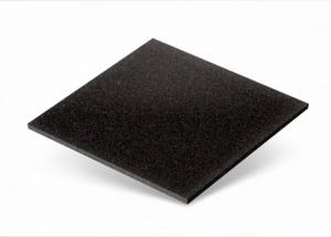 Резиновая плитка 500х500 черного цвета
