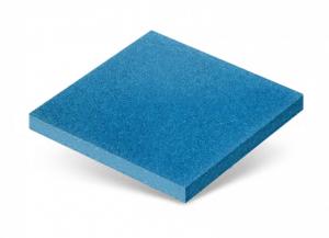 Резиновая плитка светло синяя 500х500