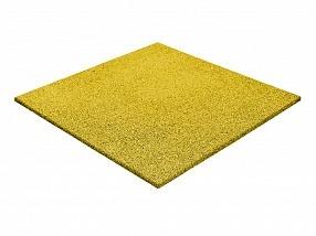 Резиновая плитка желтая 1000х1000 мм