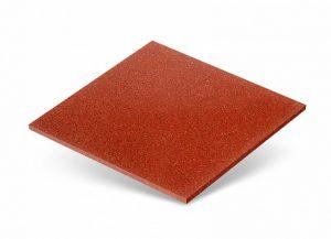 Резиновая плитка, цвет - терракотовый