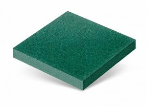 Резиновая плитка 40 мм зелёная