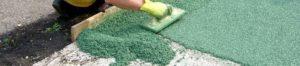 Тромбовка резинового покрытия